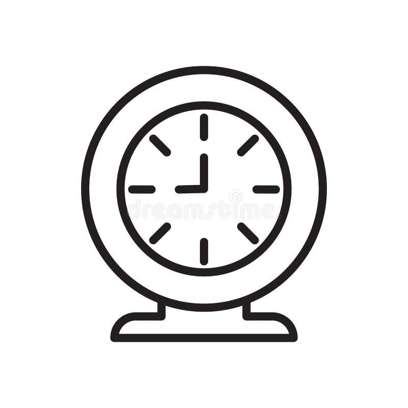 Synchronizuje ikona wektor odizolowywającego na białym tle, czasu znak ilustracji