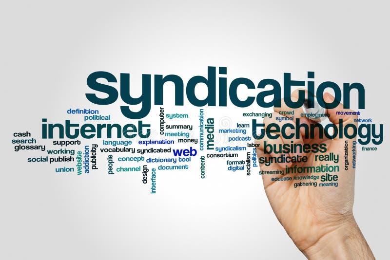 Syndikatsbildungswortwolke stockbild