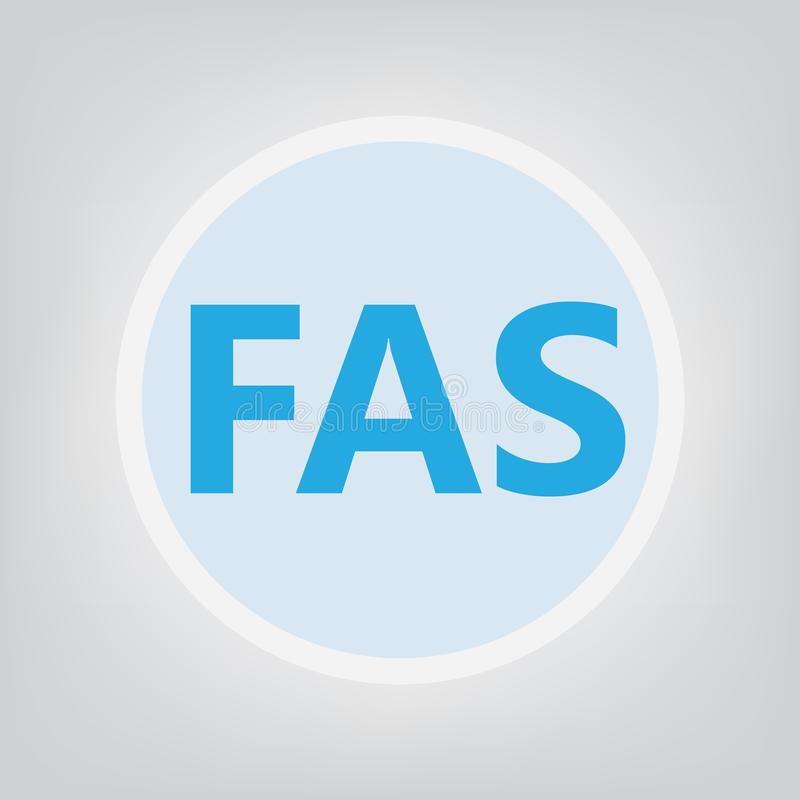 Syndromakronym des FAS fötalen Alkohols lizenzfreie abbildung