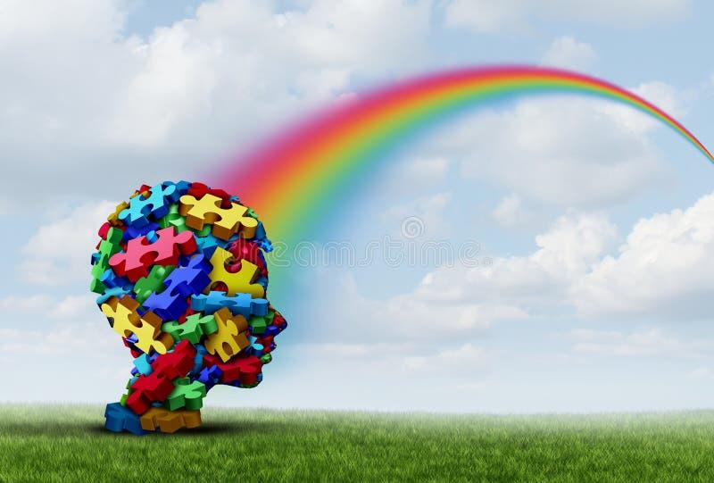Syndrome d'Asperger illustration libre de droits