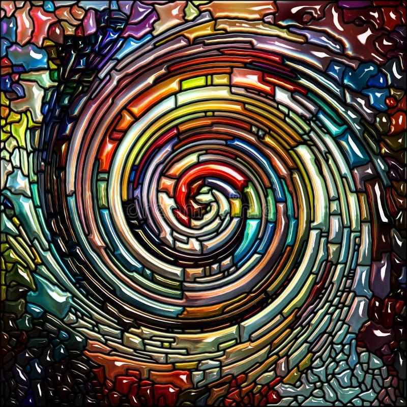 Synergia Ślimakowaty kolor ilustracja wektor