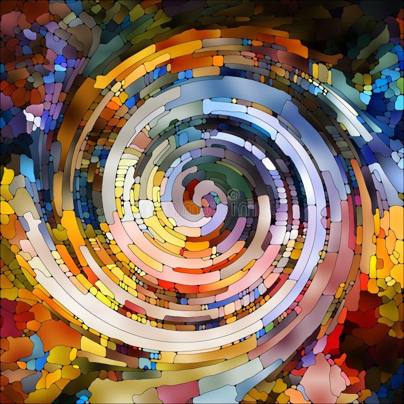 Synergia Ślimakowaty kolor royalty ilustracja