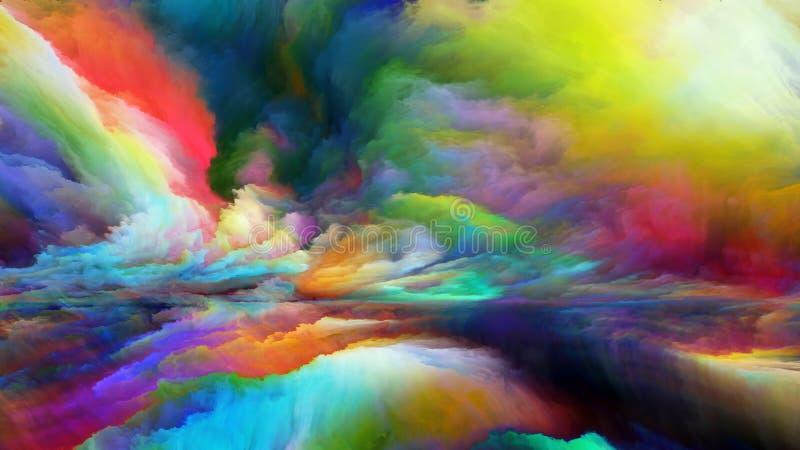 Synergien der abstrakten Landschaft lizenzfreie abbildung