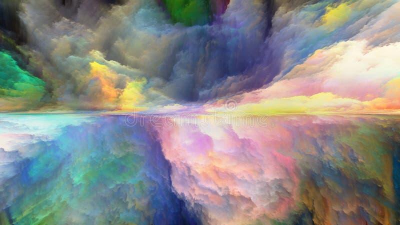 Synergien der abstrakten Landschaft vektor abbildung