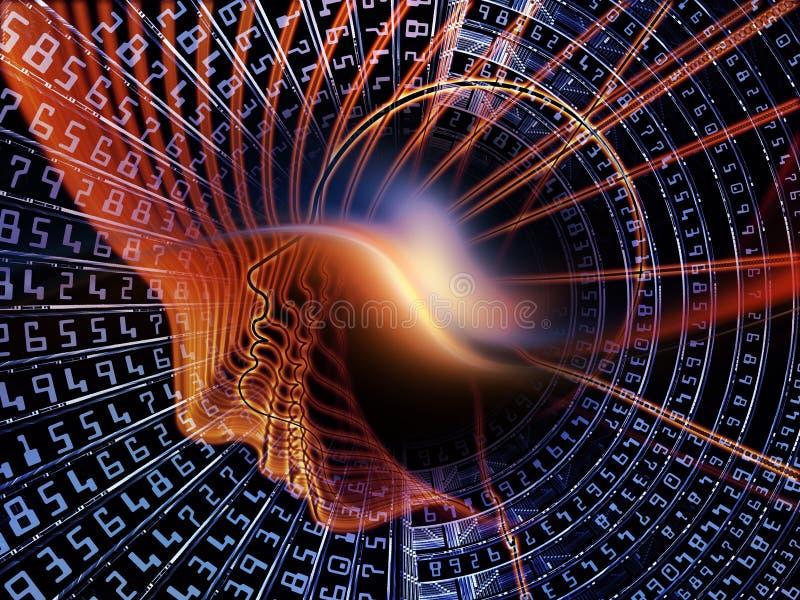 Synergien von Berechnungen lizenzfreie abbildung