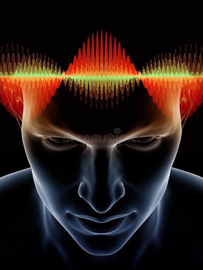 Synergier av den mänskliga meningen royaltyfri illustrationer