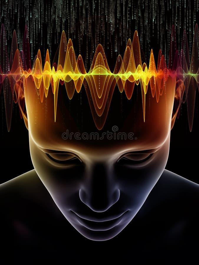Synergier av den mänskliga meningen stock illustrationer