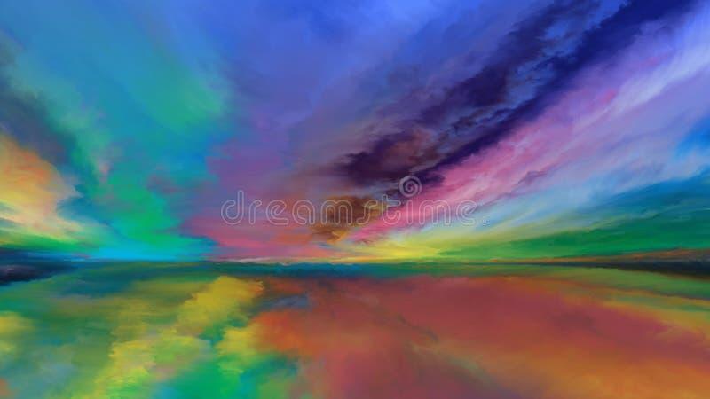 Synergier av det abstrakta landskapet stock illustrationer