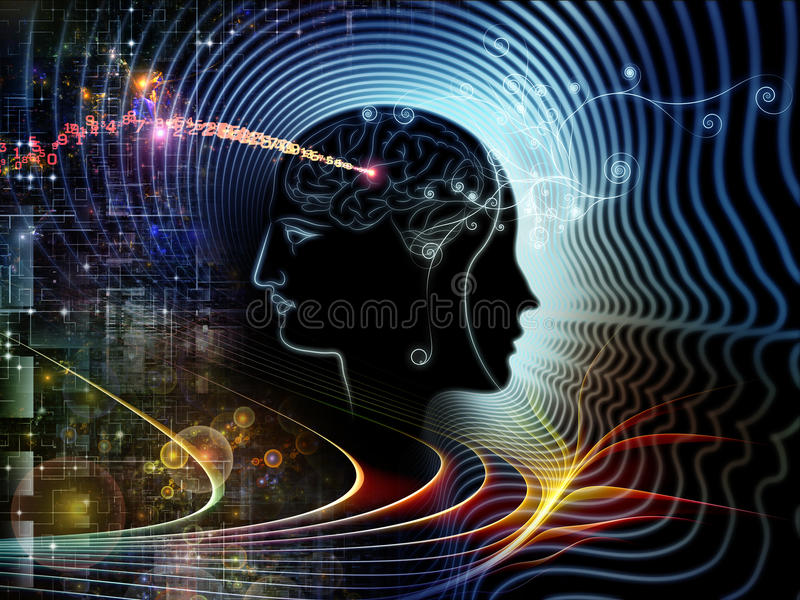 Synergies d'esprit humain illustration libre de droits