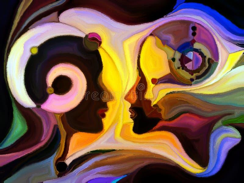 Synergies de Division de couleur illustration libre de droits