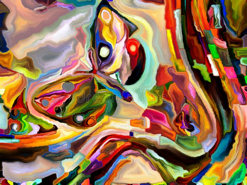 Synergies de Division de couleur illustration de vecteur
