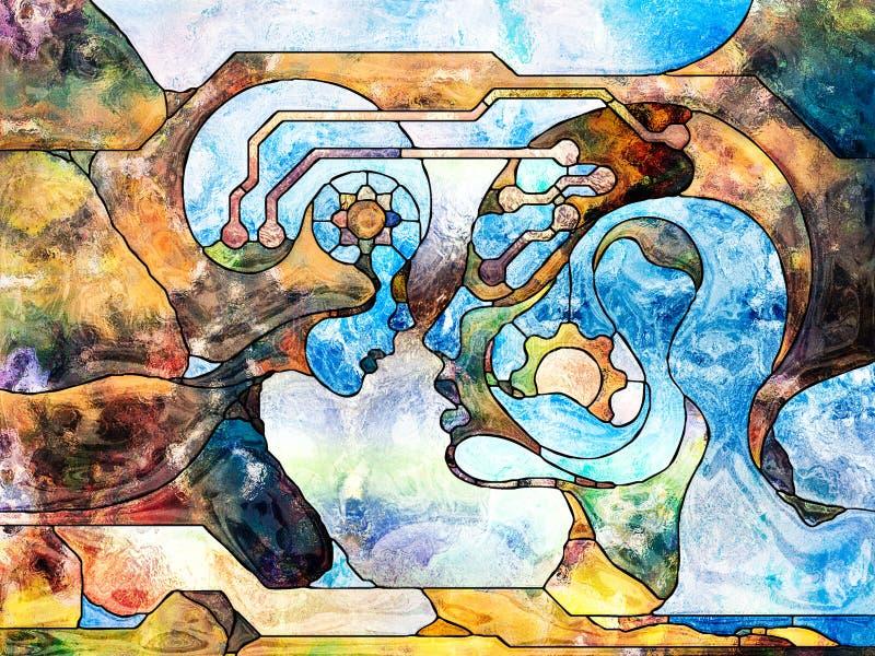Synergies de Division de couleur illustration stock