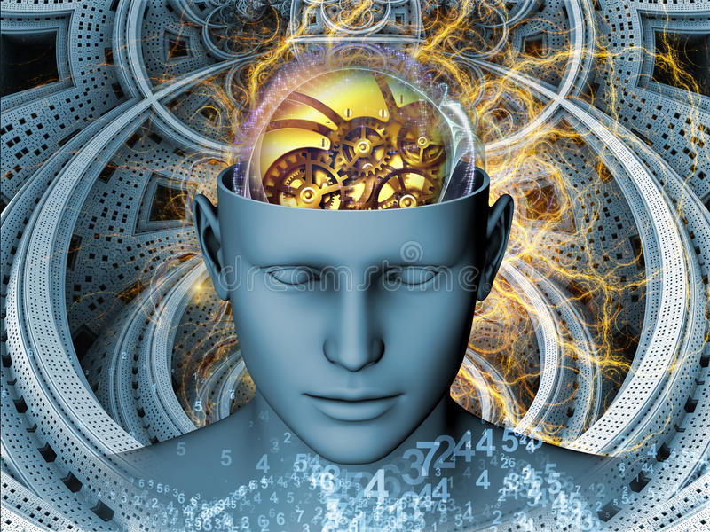 Synergies de l'esprit illustration libre de droits
