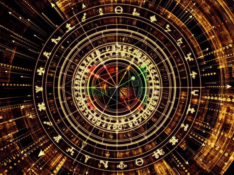 Synergies de la symbologie illustration de vecteur