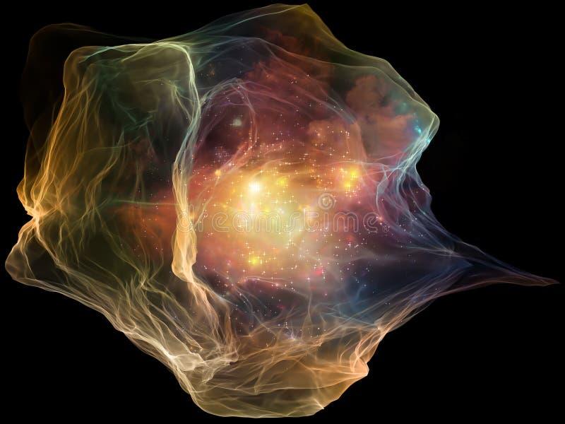 Synergies de particule d'esprit illustration stock