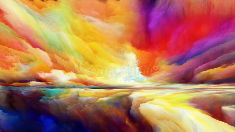 Synergies de paysage abstrait illustration stock