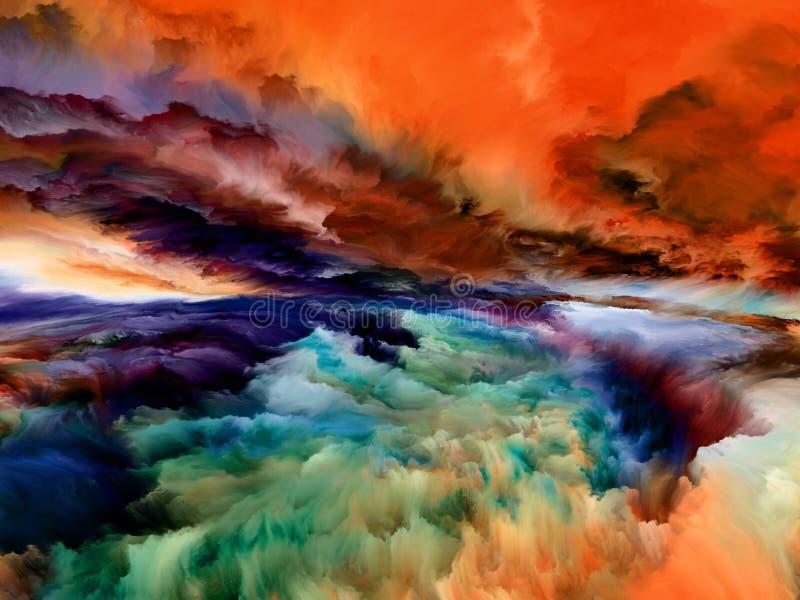 Synergies de paysage abstrait illustration libre de droits