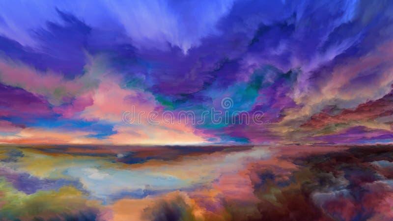 Synergies de paysage abstrait illustration de vecteur
