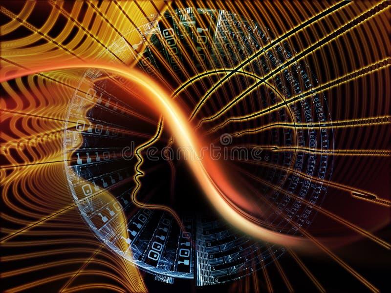 Synergies des calculs illustration libre de droits