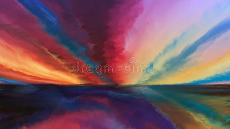 Synergiowie abstrakta krajobraz ilustracji