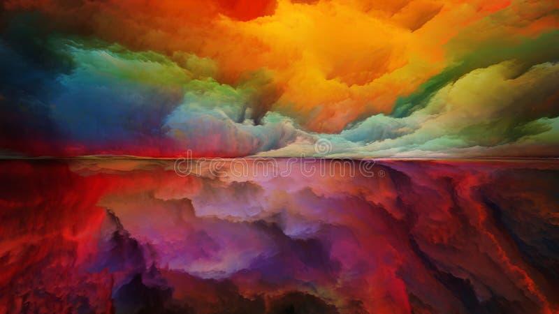 Synergiowie abstrakta krajobraz ilustracja wektor