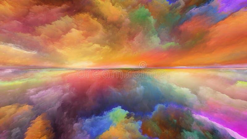 Synergiowie abstrakta krajobraz royalty ilustracja