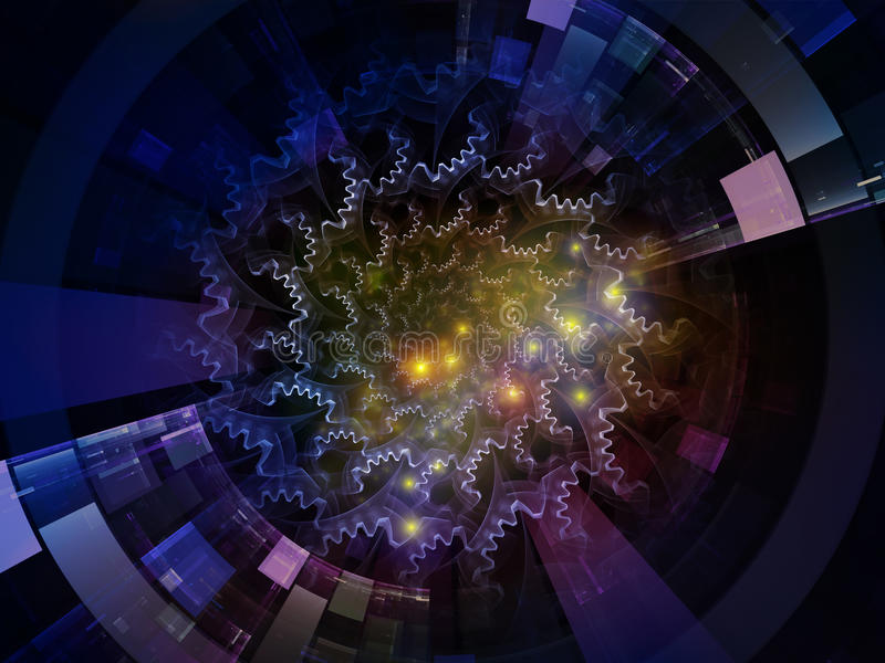 Synergiowie Astronautyczny emiter royalty ilustracja