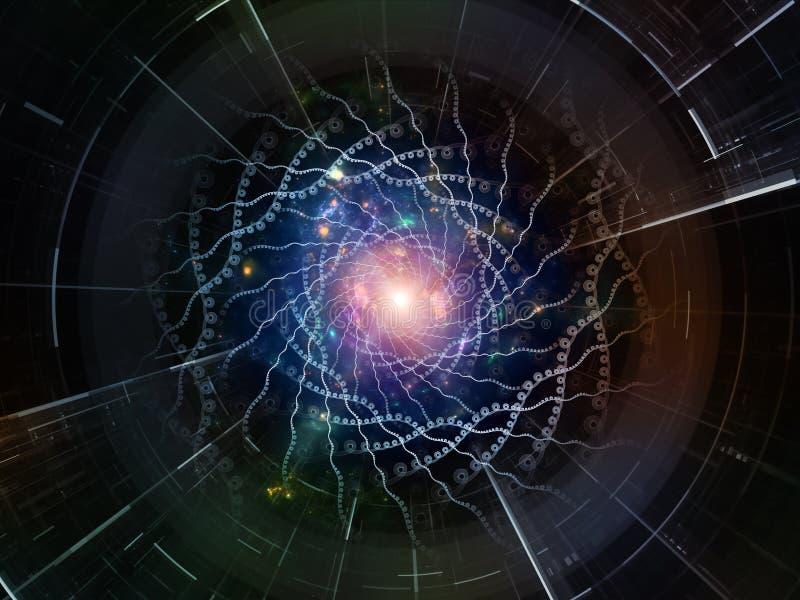 Synergiowie Astronautyczny emiter ilustracja wektor