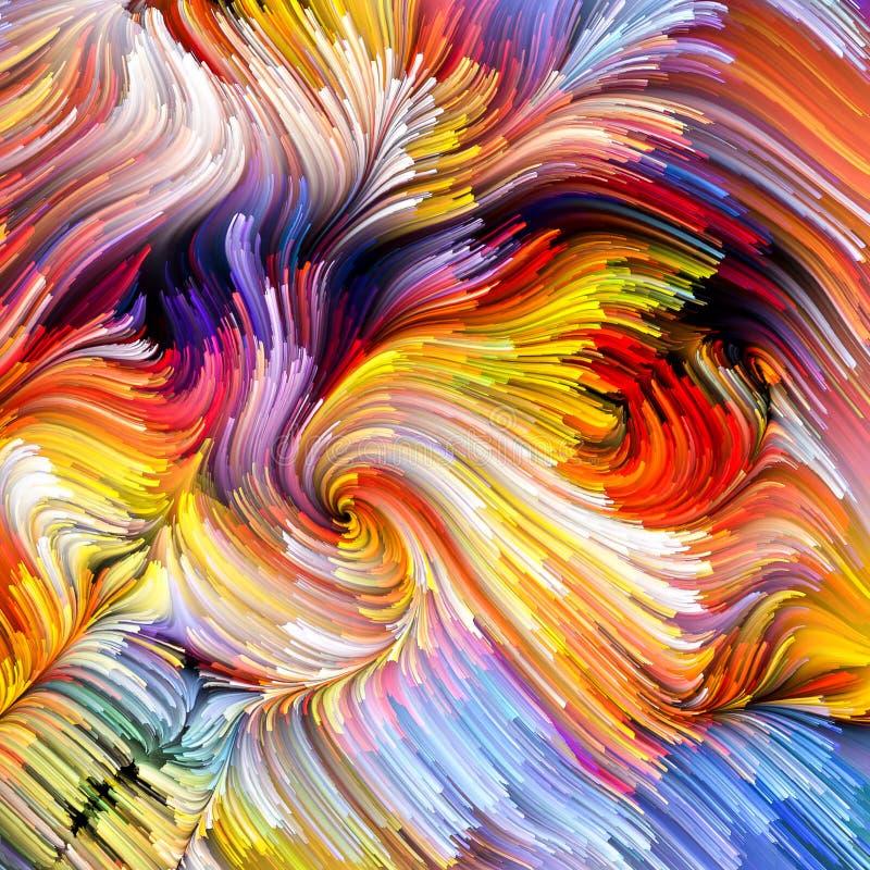 Synergiowie Ciekły kolor obrazy royalty free