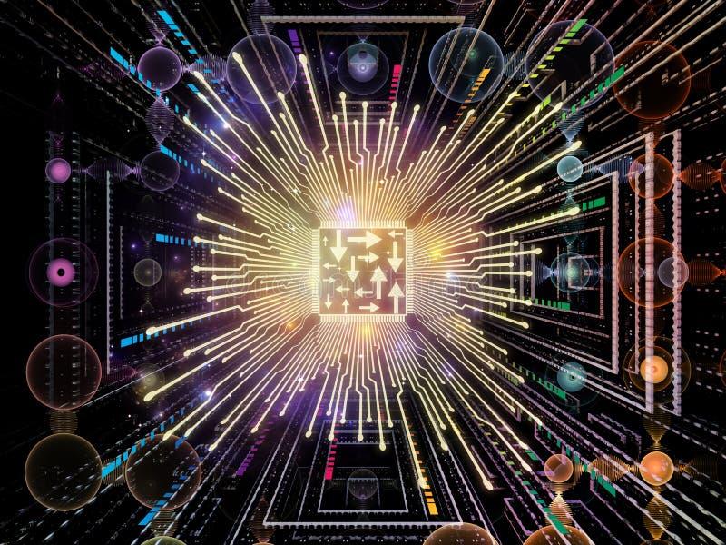 Synergiowie Cyfrowego procesor ilustracja wektor