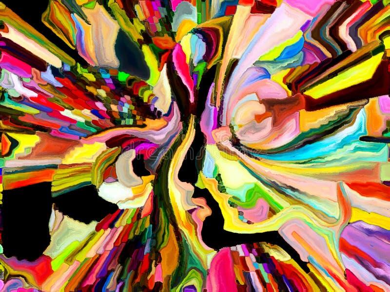 Synergiowie koloru podział ilustracja wektor