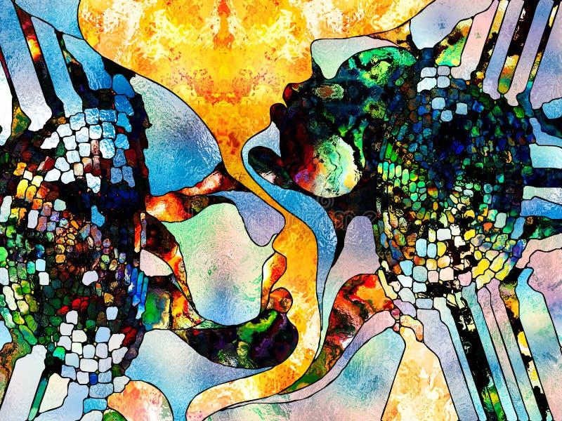 Synergiowie koloru podział royalty ilustracja
