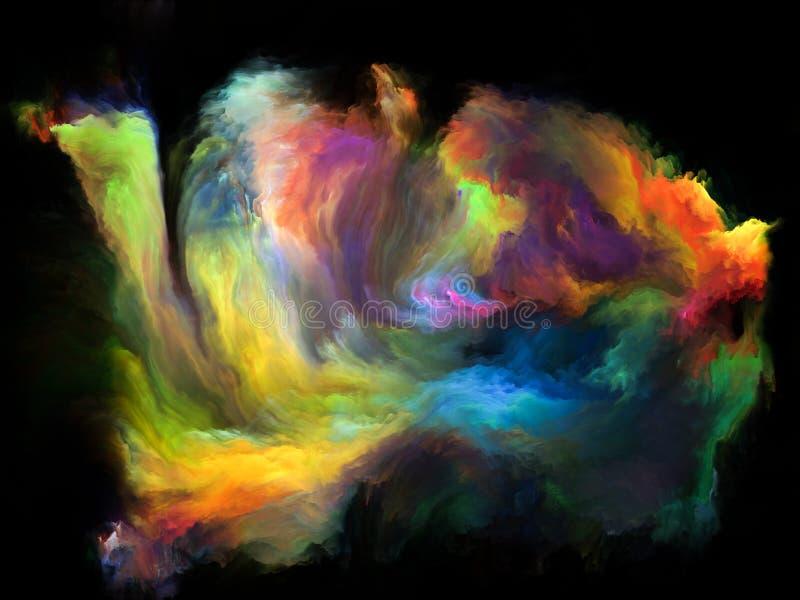 Synergiowie koloru ruch royalty ilustracja