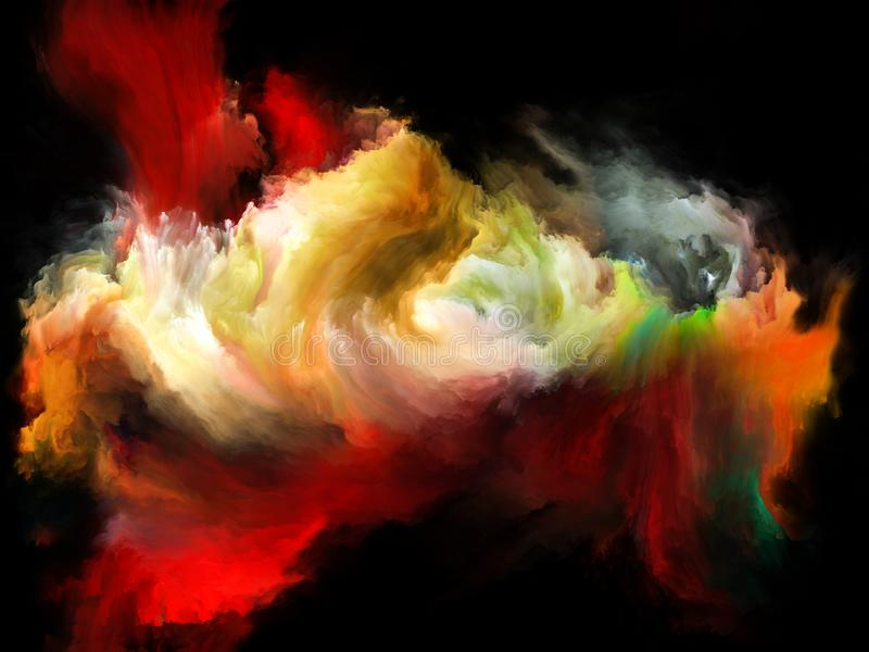 Synergiowie koloru ruch ilustracji