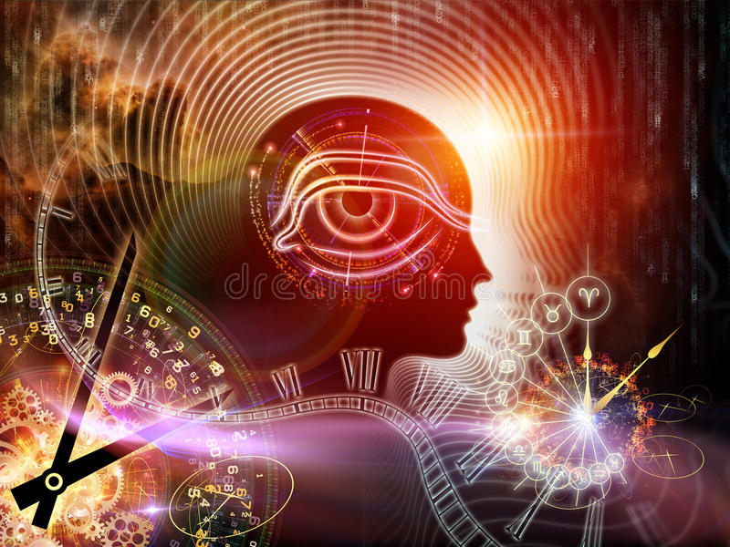 Synergiowie ludzki umysł royalty ilustracja