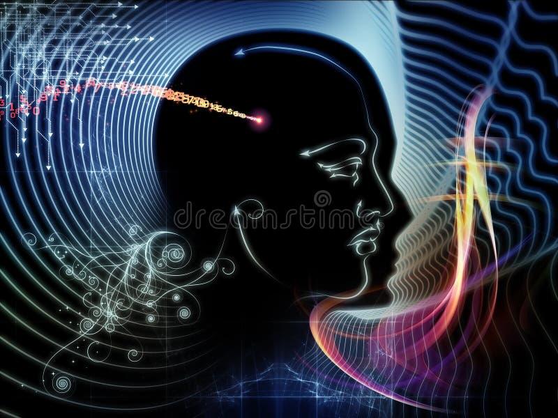 Synergiowie ludzki umysł ilustracji