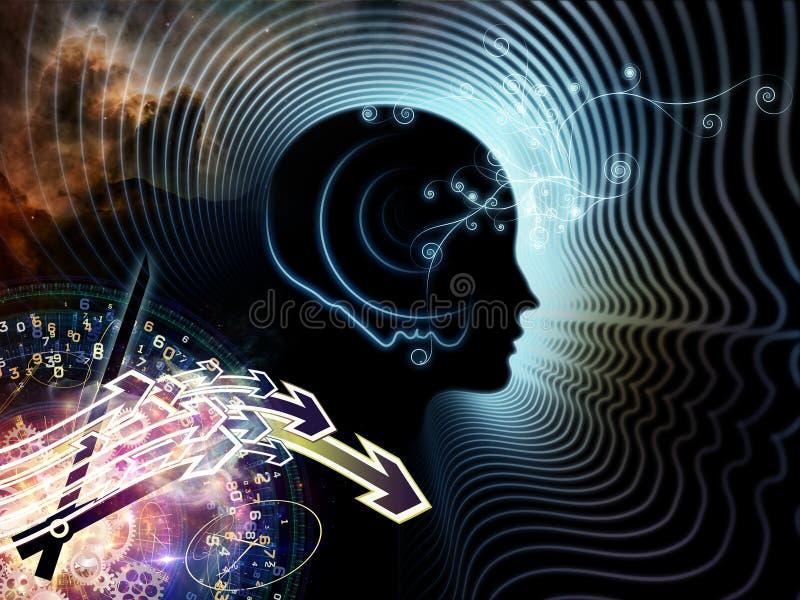 Synergiowie ludzki umysł ilustracja wektor