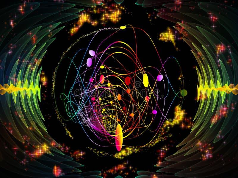 Synergiowie Promieniowa oscylacja ilustracja wektor