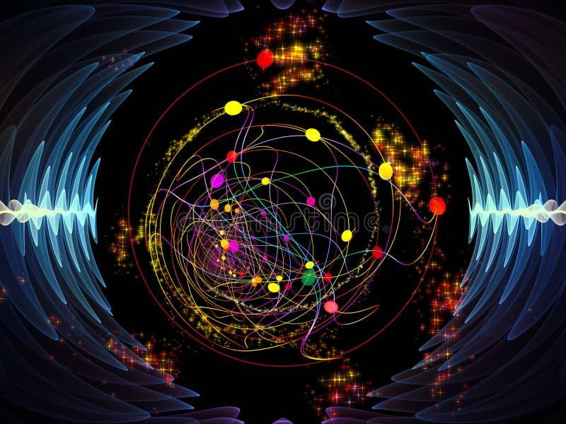 Synergiowie Promieniowa oscylacja royalty ilustracja