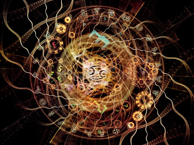 Synergiowie Symboliczny znaczenie royalty ilustracja