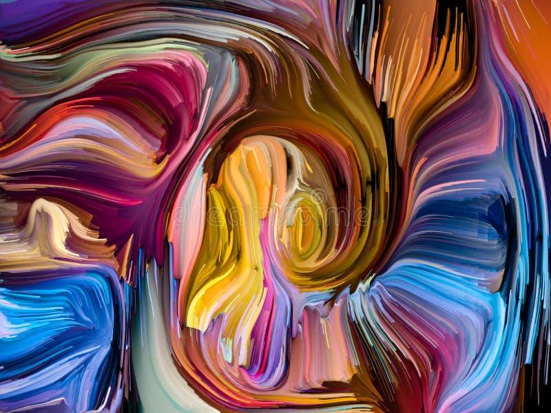 Synergiowie Zrastający się kolory royalty ilustracja