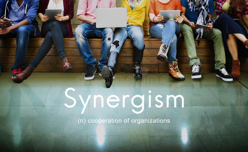 Synergism Team People Graphic Concept stock photos