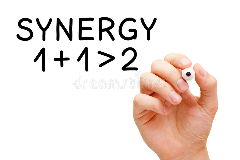 Synergismeconcept stock foto