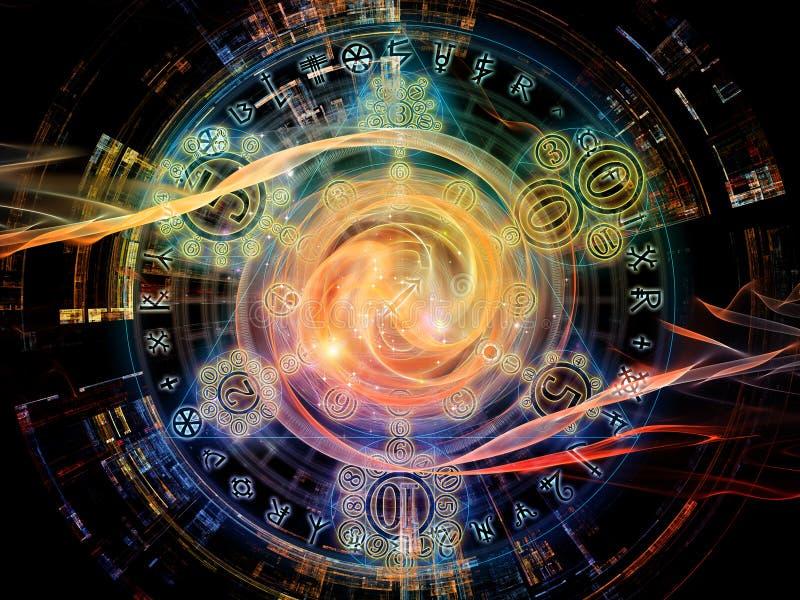 Synergismen van Symbolische Betekenis stock illustratie