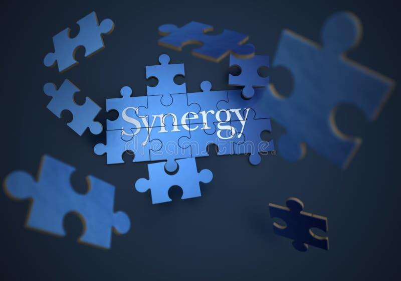 synergy royaltyfri illustrationer