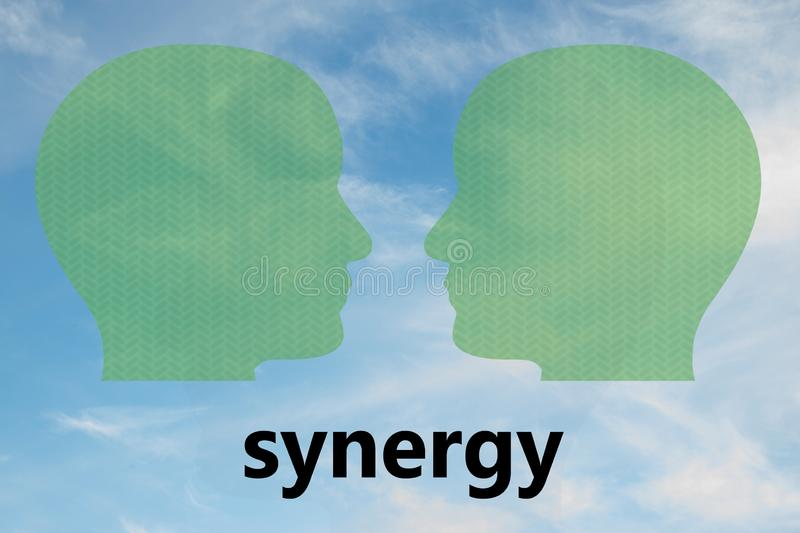 SYNERGY  - communication concept royalty free stock photo