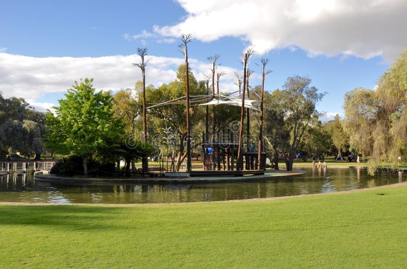 Synergy Parkland Island Playground: King's Park, Perth royalty free stock image