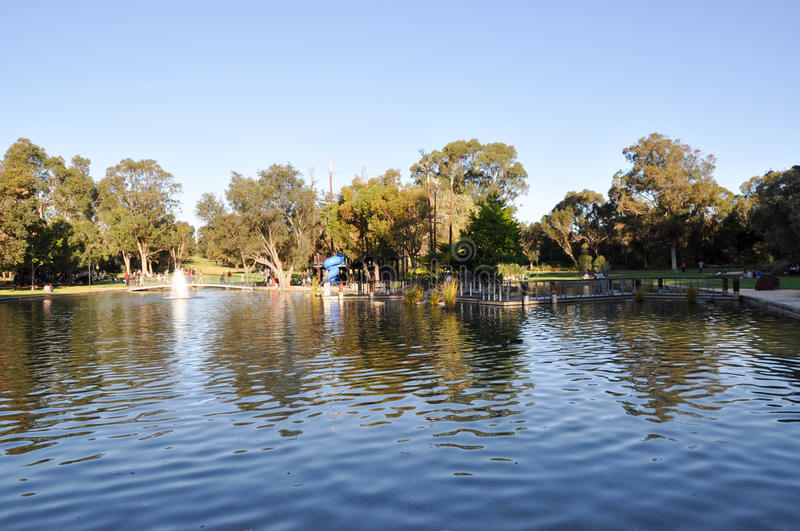 Synergy Parkland Pond and Island Park royalty free stock images