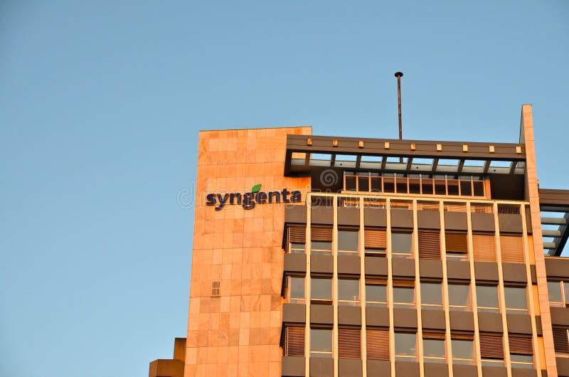Syngentahoofdkwartier in Bazel, Zwitserland royalty-vrije stock foto