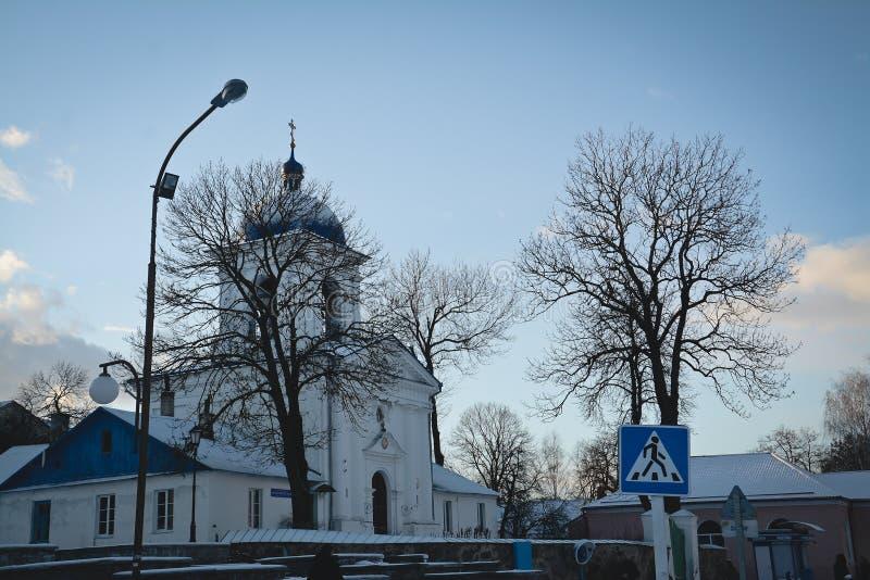 Synkovichi, БЕЛАРУСЬ - 26-ое февраля 2017 Ортодоксальность монастыря Zhyrovichy стоковое фото rf
